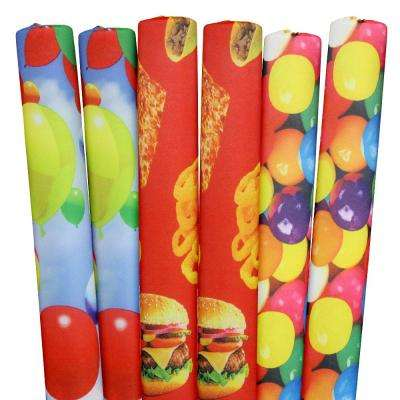 Gumballs, Foods, Balloons Pool Noodles (6-Pack)