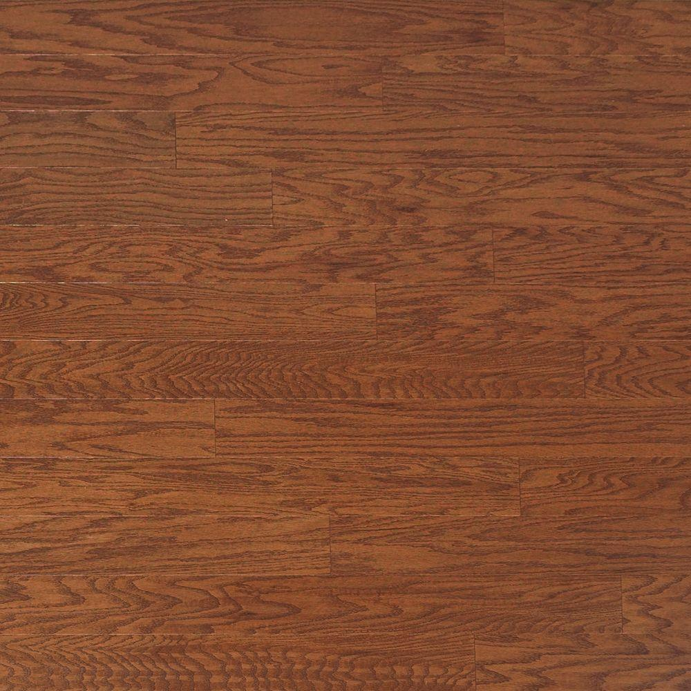 Heritage Mill Scraped Oak Amaretto 3/8 in. Thick x 4-3/4 in. Wide x Random Length Engineered Click Hardwood Flooring (33 sq.ft./case)