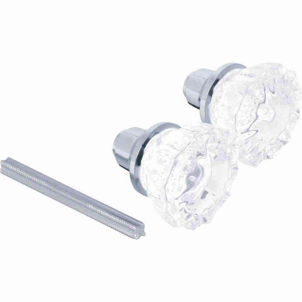 2 in. Satin Nickel Glass Door Knob