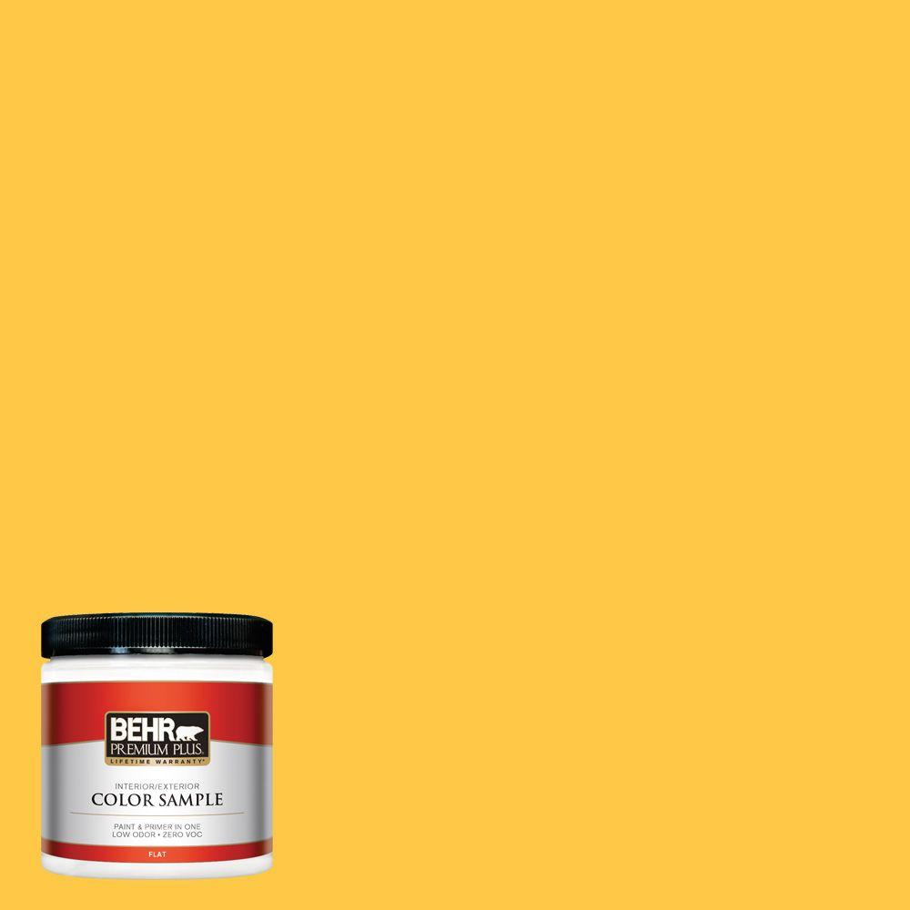 8 oz. #P290-6 English Daisy Interior/Exterior Paint Sample