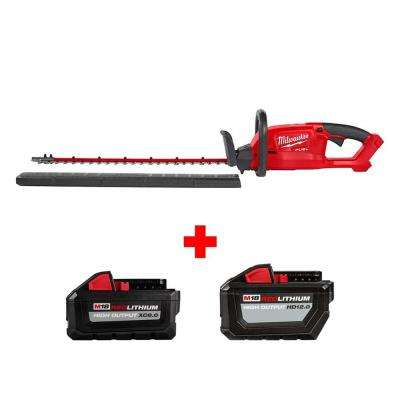 M18 FUEL 18-Volt Lithium-Ion Brushless Cordless Hedge Trimmer with 12 Ah and 8 Ah Batteries