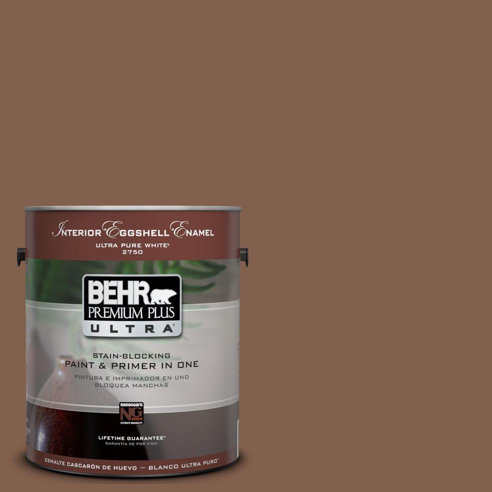BEHR Premium Plus Ultra 1-Gal. #UL130-3 Burnt Terra Interior Eggshell Enamel Paint