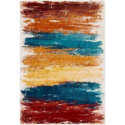 Pepin Bright Blue 8 ft. x 10 ft. Indoor Area Rug