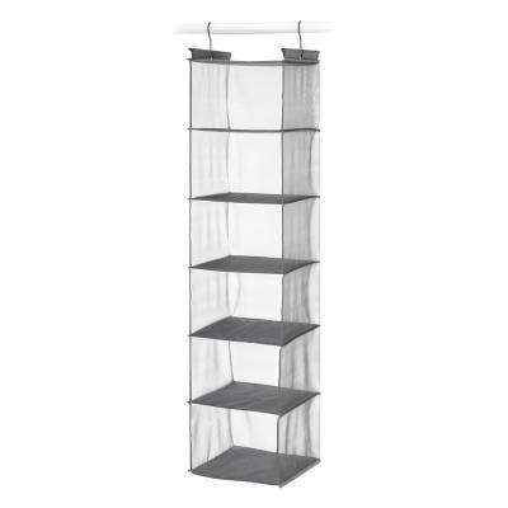 6-Shelf Hanging Accessory Organizer