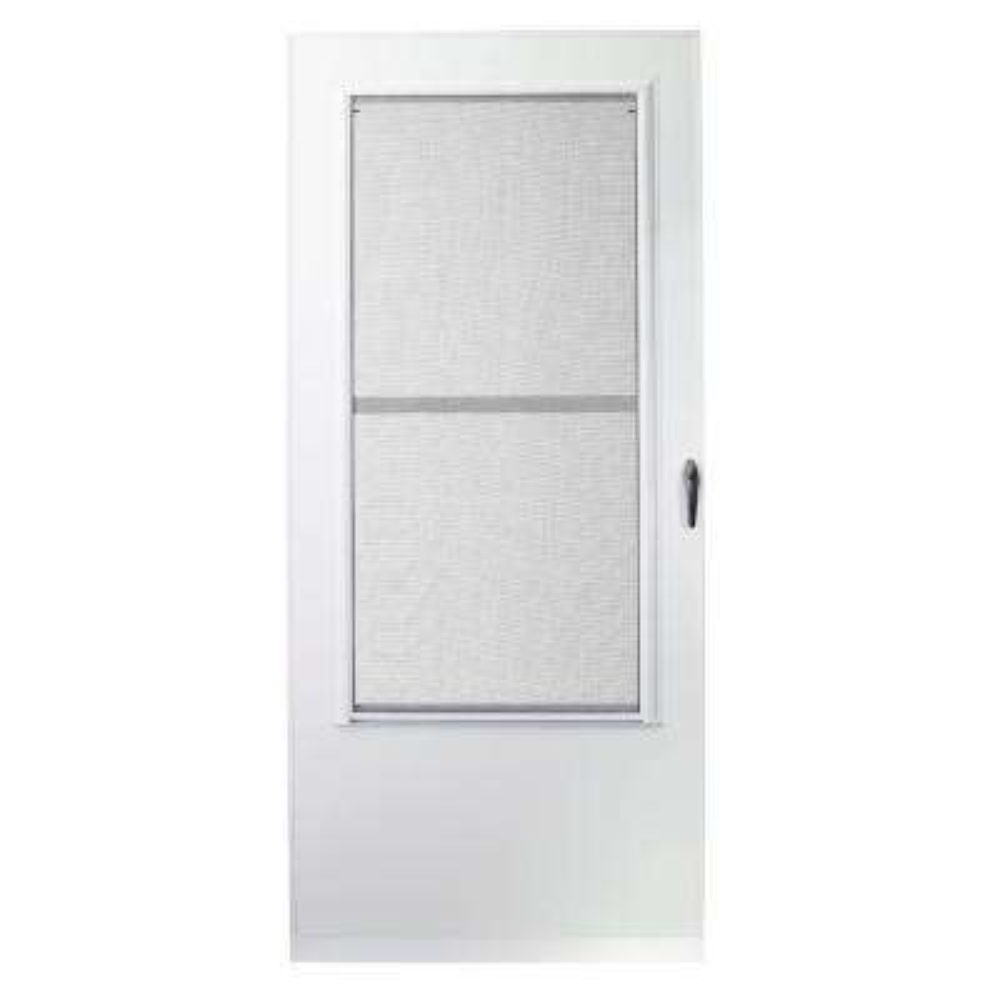 34 in. x 80 in. 100 Series White Self-Storing Storm Door