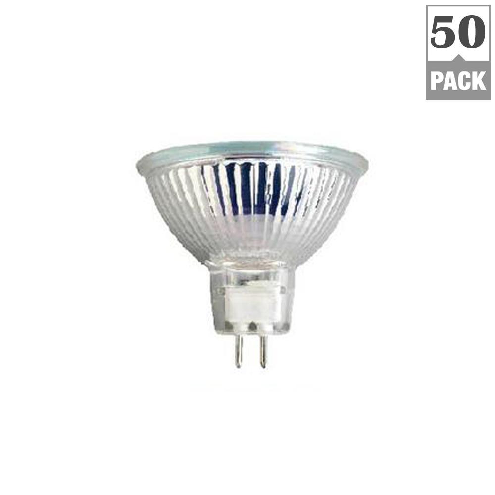 TriGlow 50-Watt MR16 G5.3 Base Halogen Light Bulbs (50-Pack)