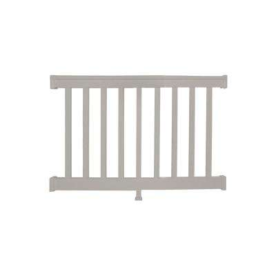 Vanderbilt 3 ft. H x  4 ft. W Tan Vinyl Railing Kit