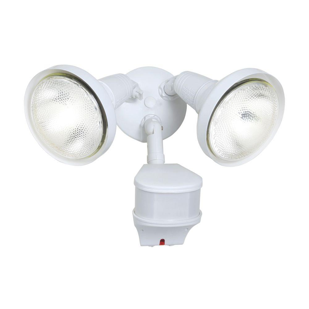 270-Degree Outdoor White Motion Activated Sensor Security Flood Light with