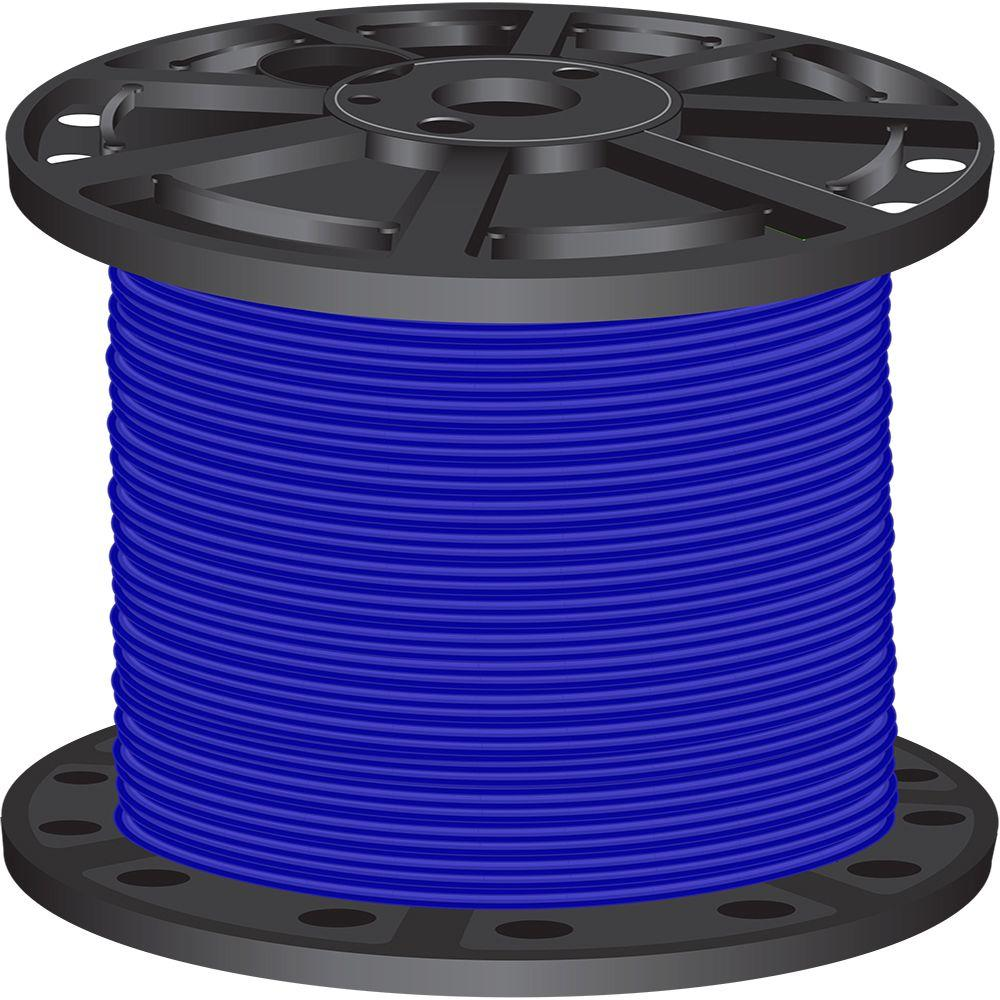 1,000 ft. 6 Blue Stranded CU SIMpull THHN Wire