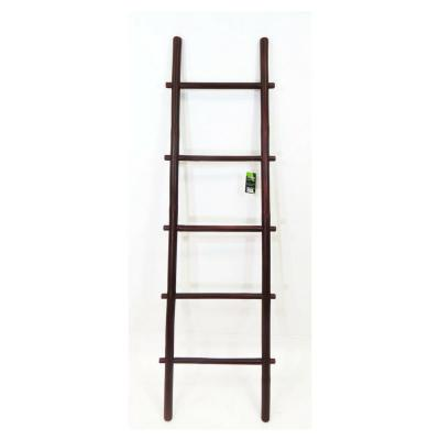 5 ft. H 5-Bar Ladder Rack Hand-crafted from Solid Bamboo