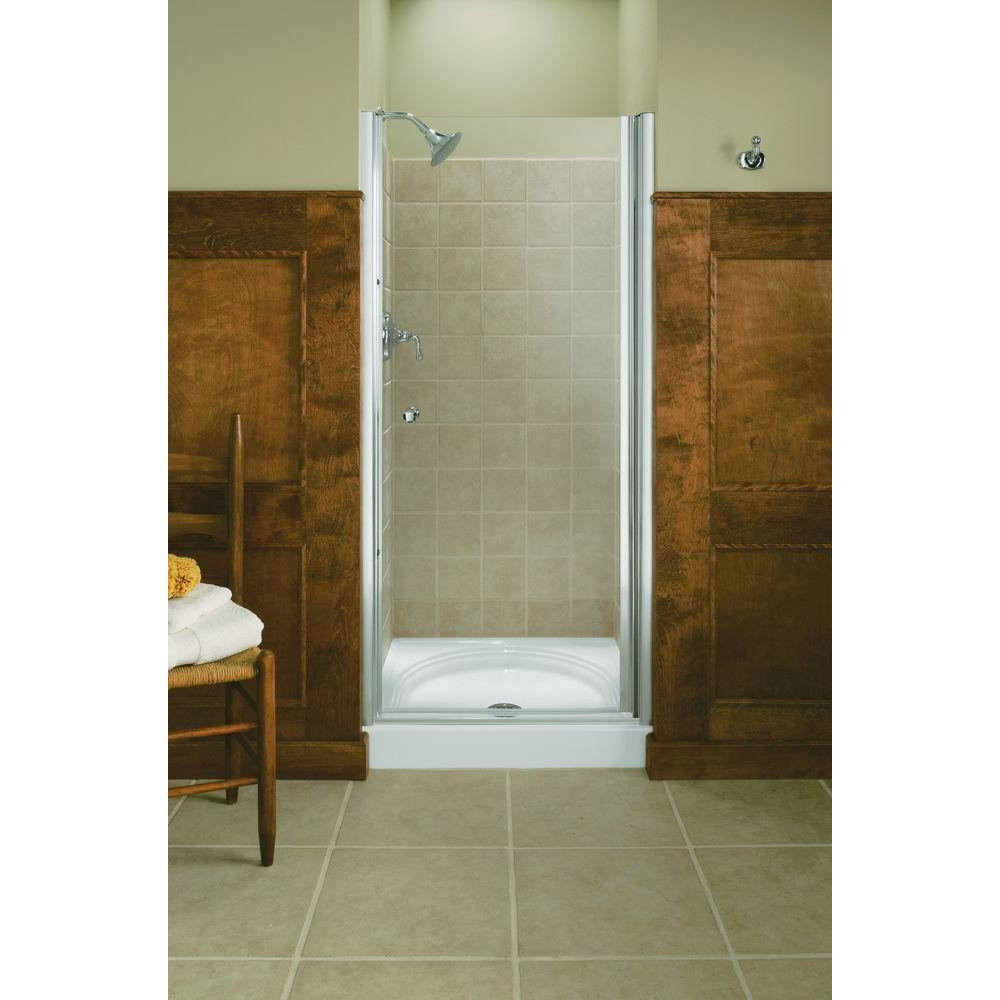 KOHLER Fluence 32-3/4 in. x 65-1/2 in. Semi-Frameless Pivot Shower ...