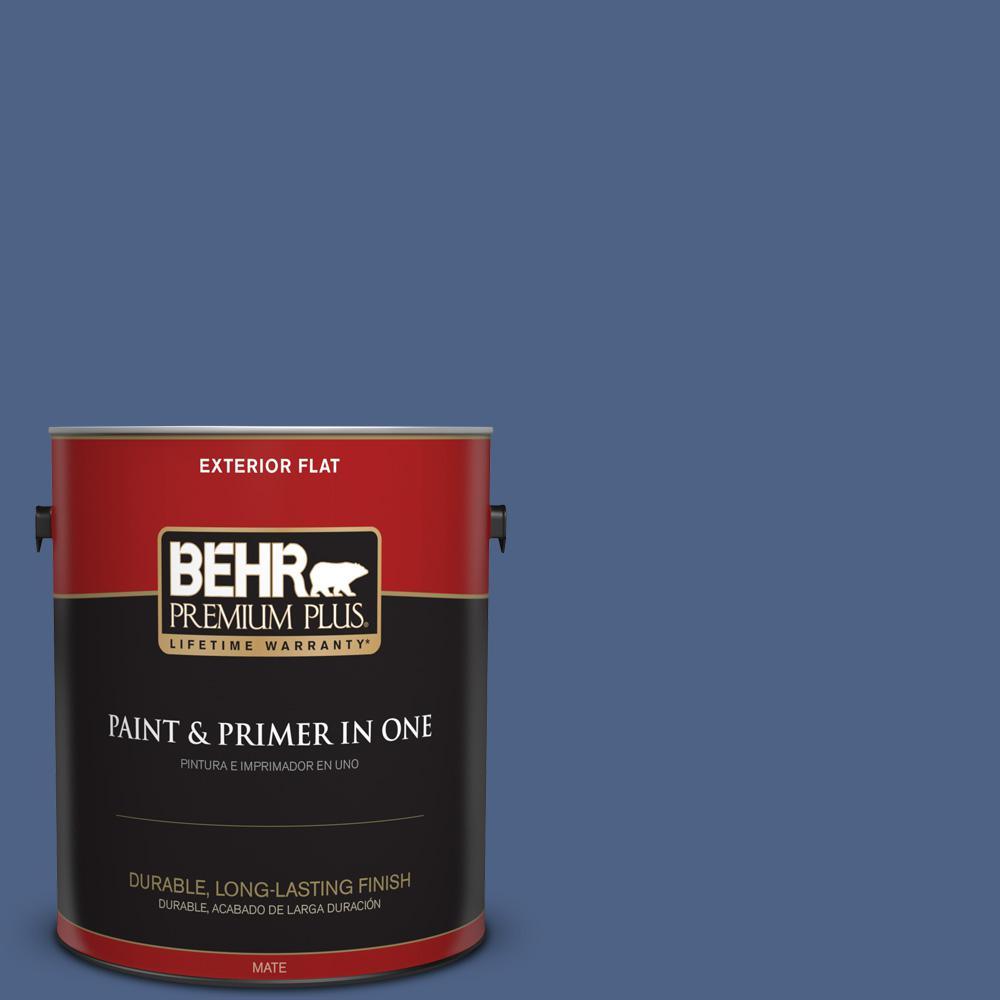 1 gal. #PPU15-04 Mosaic Blue Flat Exterior Paint