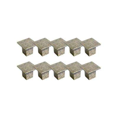 Cubist 1-7/16 in. Antique Brass Cabinet Hardware Knob Value Pack (10 per Pack)
