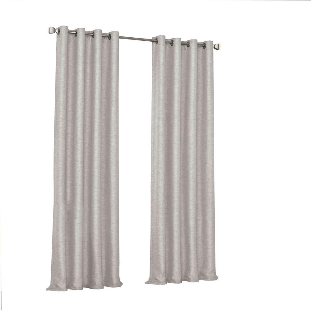 Presto Blackout Window Curtain Panel in Grey - 52 in. W. x 84 in. L