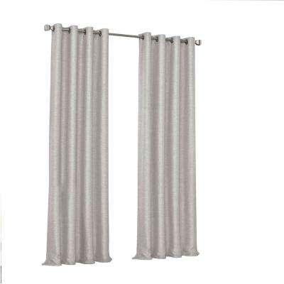 Presto Blackout Window Curtain Panel in Grey - 52 in. W. x 108 in. L