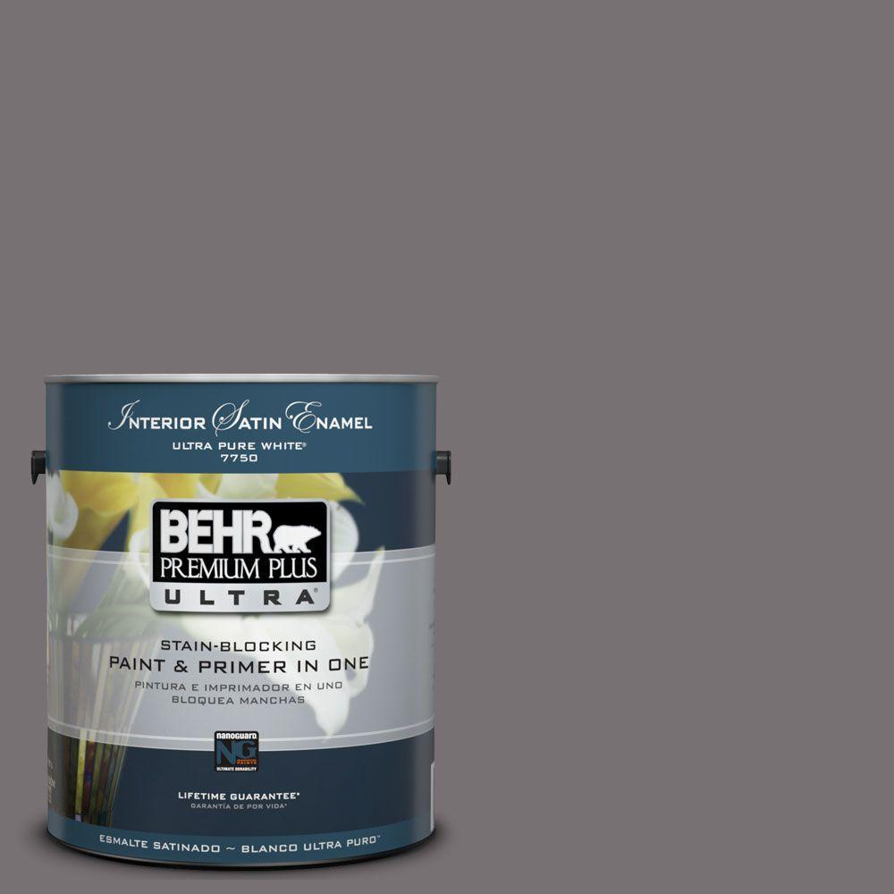 BEHR Premium Plus Ultra 1-Gal. #UL250-3 Echo Interior Satin Enamel Paint