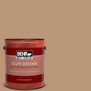 Behr Ultra 1 Qt Home Decorators Collection Hdc Ac 12 Craft Brown Extra Durable Flat Interior Paint And Primer 172404 The Home Depot