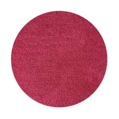 Bella Collection Pink 5 ft. x 5 ft. Round Area Rug