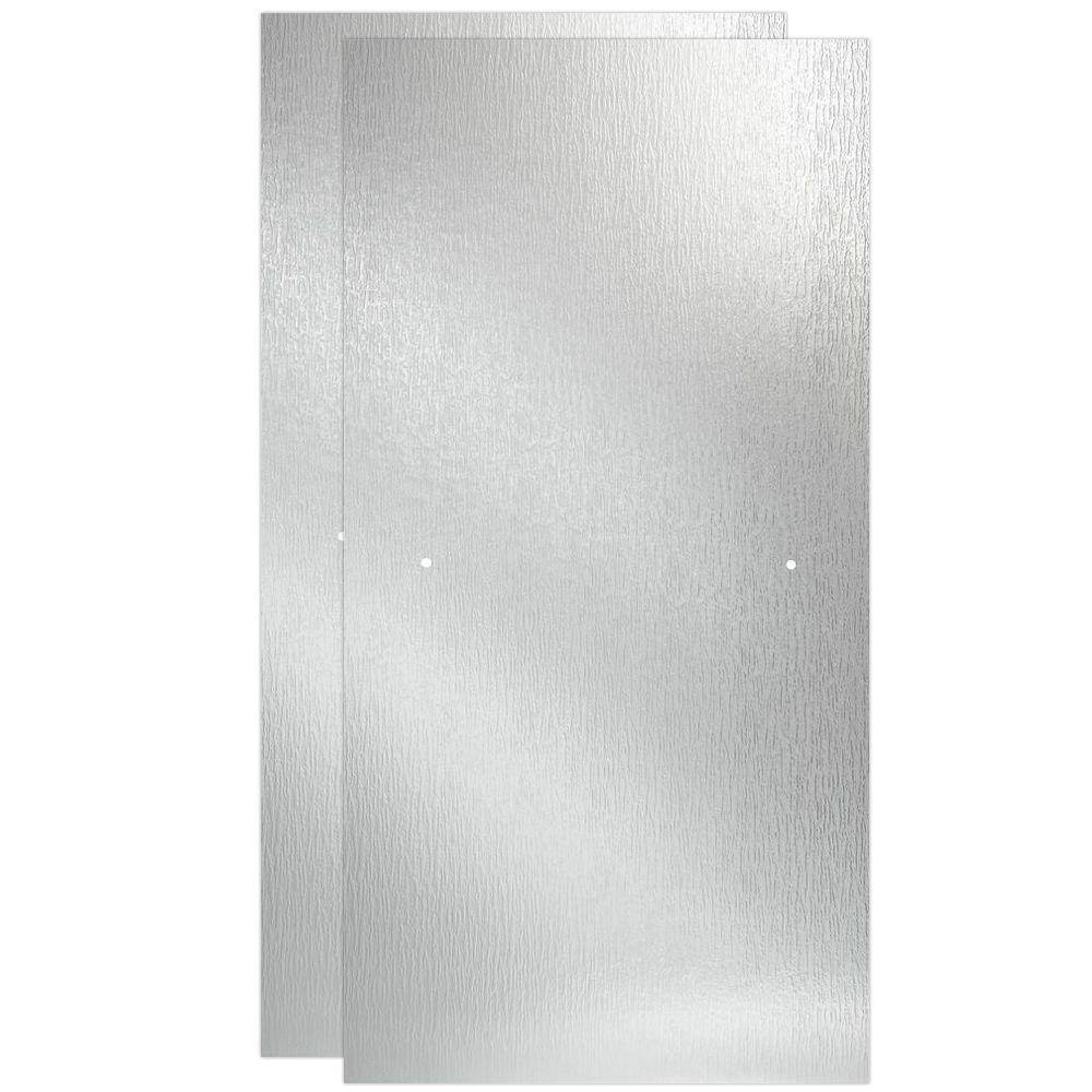Delta 60 in Sliding Shower Door Glass Panels in Rain 1Pair
