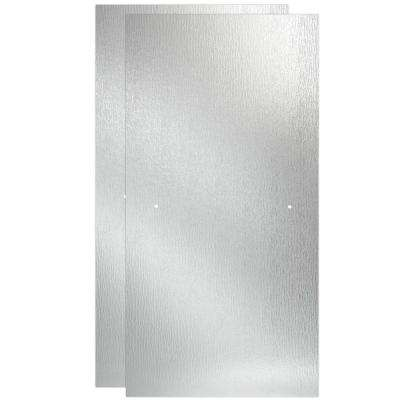 60 in. Sliding Shower Door Glass Panels in Rain (1-Pair)