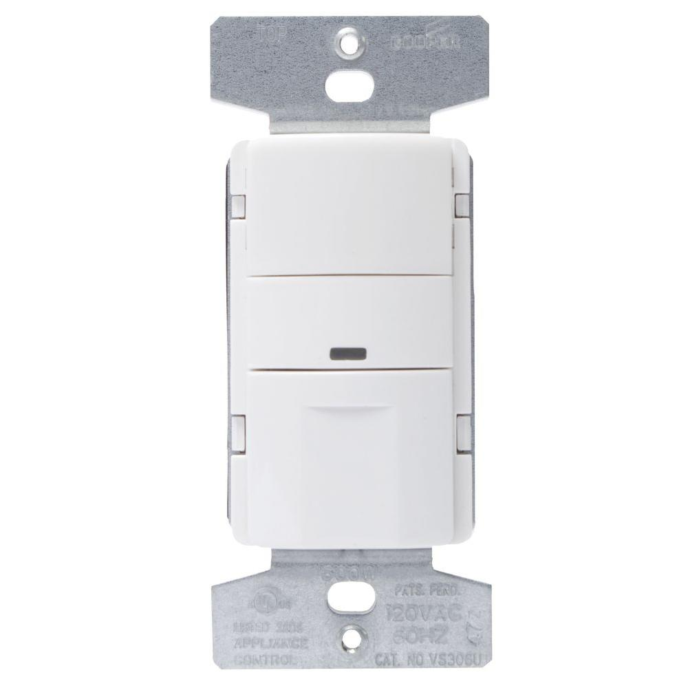 Eaton Eaton 5 Amp 3-Way Wall Mount Occupancy Sensor, White