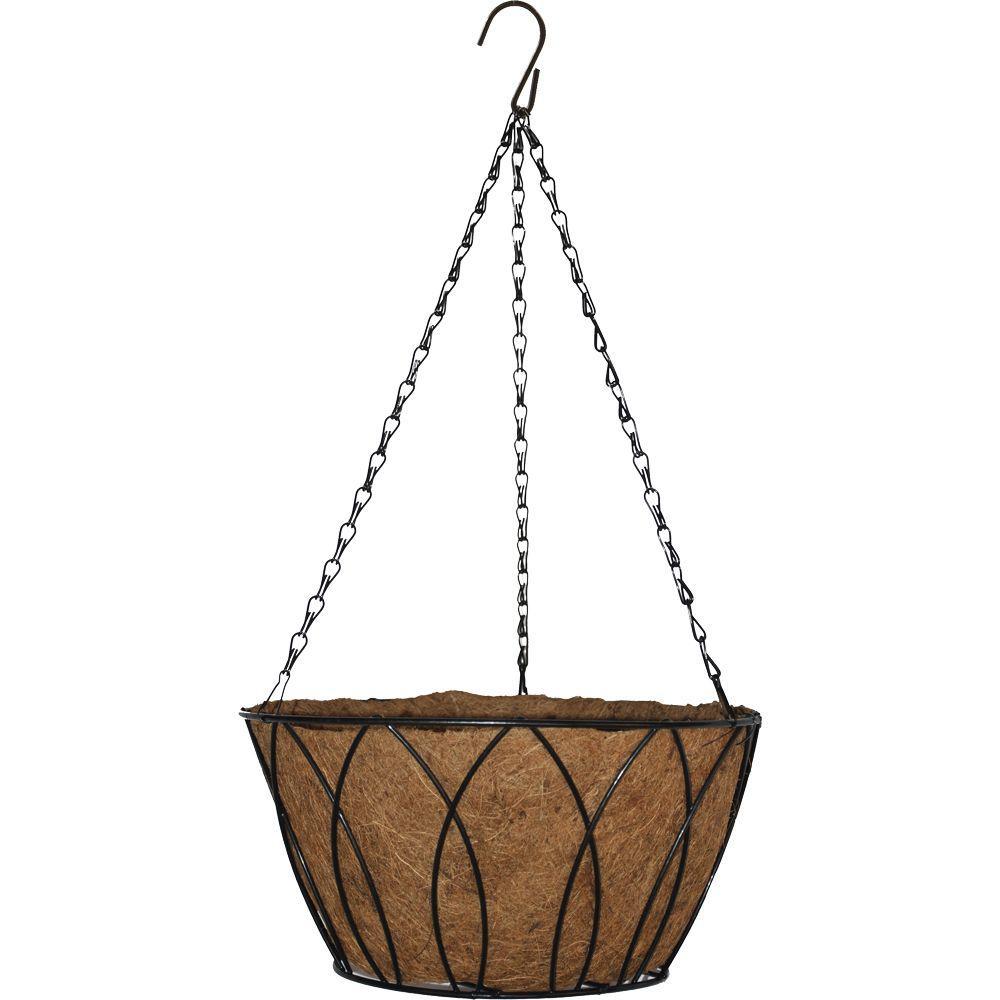 Pride Garden Products 14 in. Devon Bucket Hanging Basket
