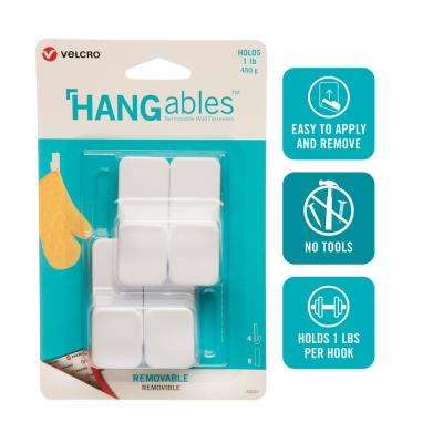 HANGables Removable Small Hook in White (4-Count)