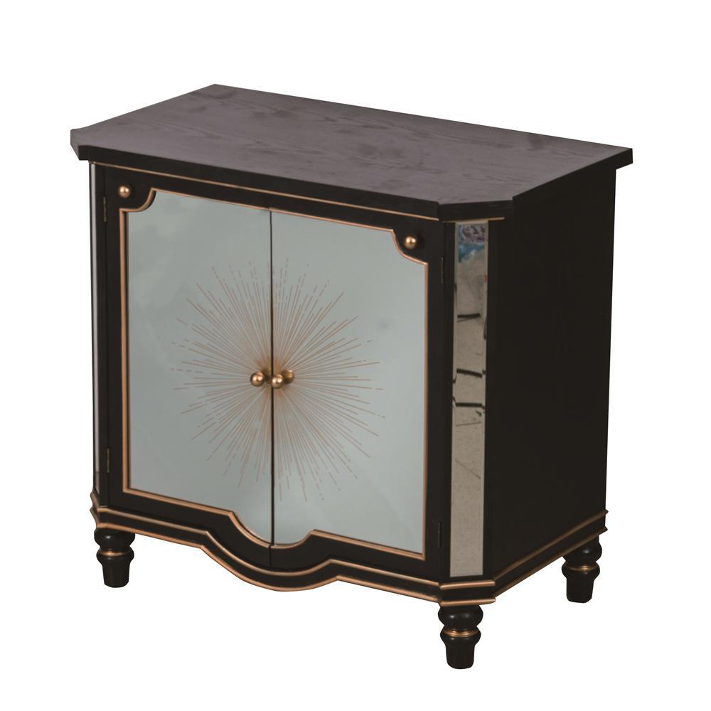 Vintage Glamour Black and Gold Cabinet