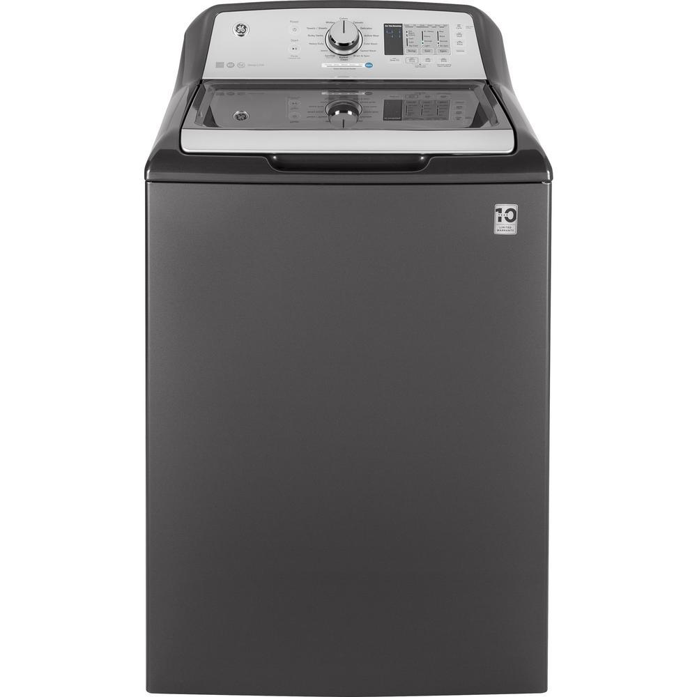 GE 4.5 cu. ft. High-Efficiency Diamond Gray Top Load Washing Machine, ENERGY STAR