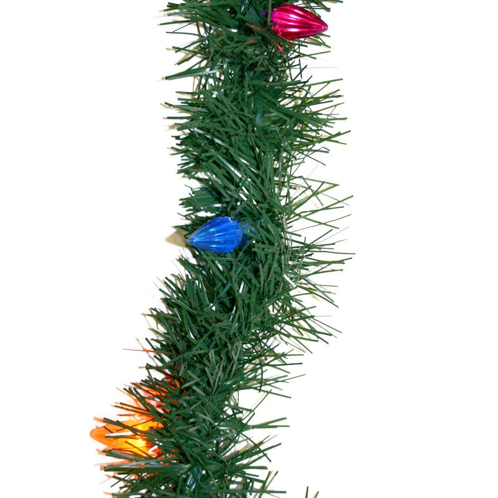 null 18 ft. Pre-Lit Pine Garland with Multi-Color Lights
