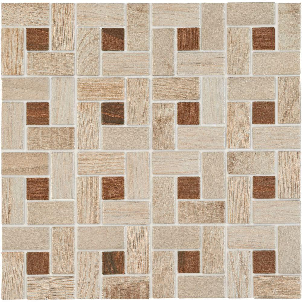 Daltile Parkwood Beige With Cherry Dot 12 In X 12 In X 635 Mm