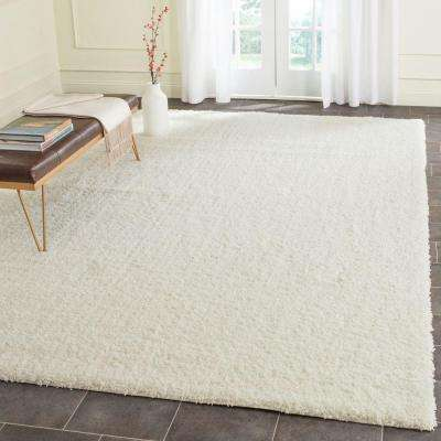 Laguna Shag Ivory 8 ft. 6 in. x 12 ft. Area Rug