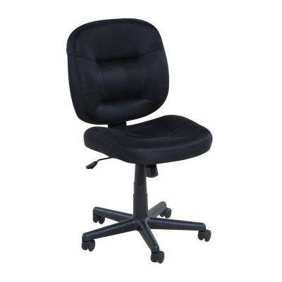 Low-Back Black Mesh Task Chair with Nylon Base