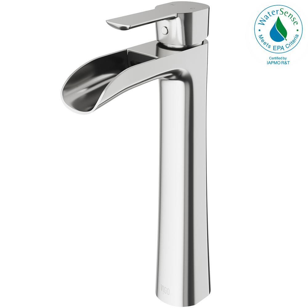 Vigo Niko Single Hole Single Handle Vessel Bathroom Faucet In
