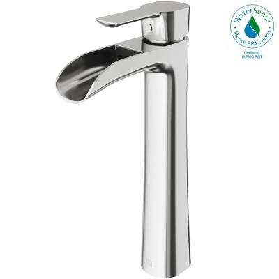 Niko Single Hole Single-Handle Vessel Bathroom Faucet in Brushed Nickel