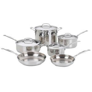 Cuisinart Chef's Classic 10-Piece Stainless Steel Cookware Set with Lids by Cuisinart