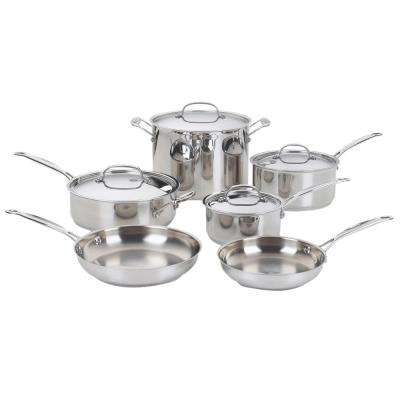 Chef's Classic 10-Piece Stainless Steel Cookware Set with Lids