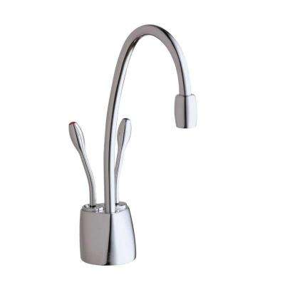Indulge Contemporary 2-Handle Instant Hot and Cold Water Dispenser Faucet in Chrome