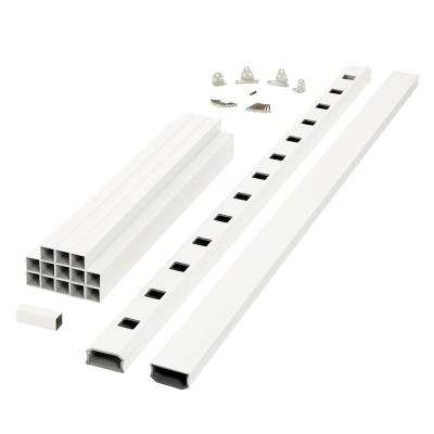 Regency 6 ft. x 3 ft. White Capped Composite Rail Section With Composite Balusters
