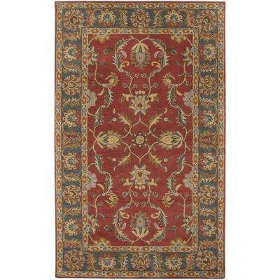 Chenni Burgundy 9 ft. x 12 ft. Indoor Area Rug