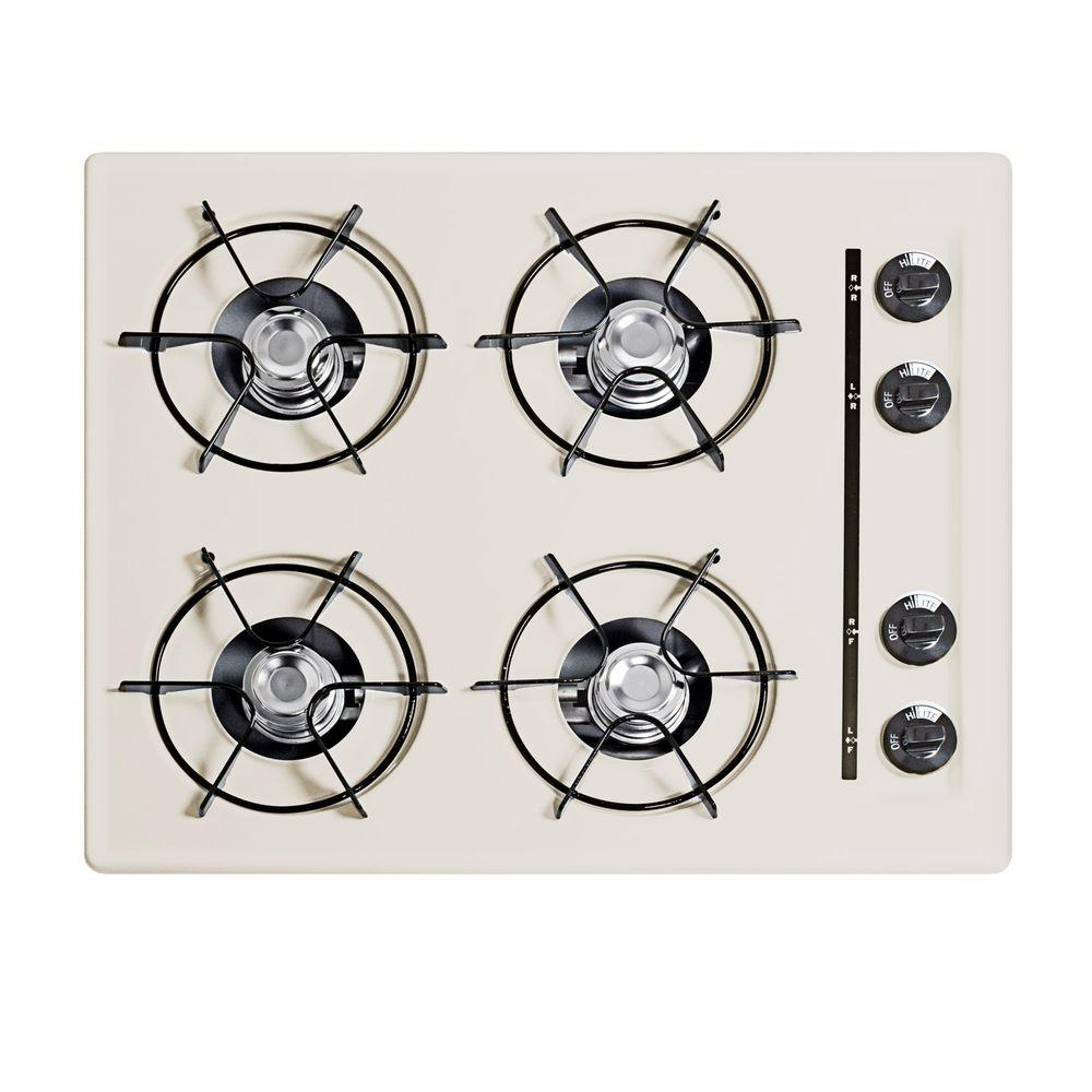 null 24 in. Gas Cooktop in Bisque with 4 Burners
