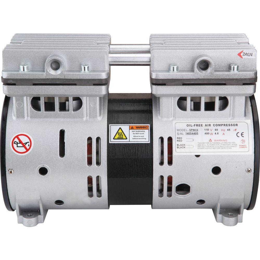3/4 HP Ultra Quiet and Oil-Free Air Compressor Motor