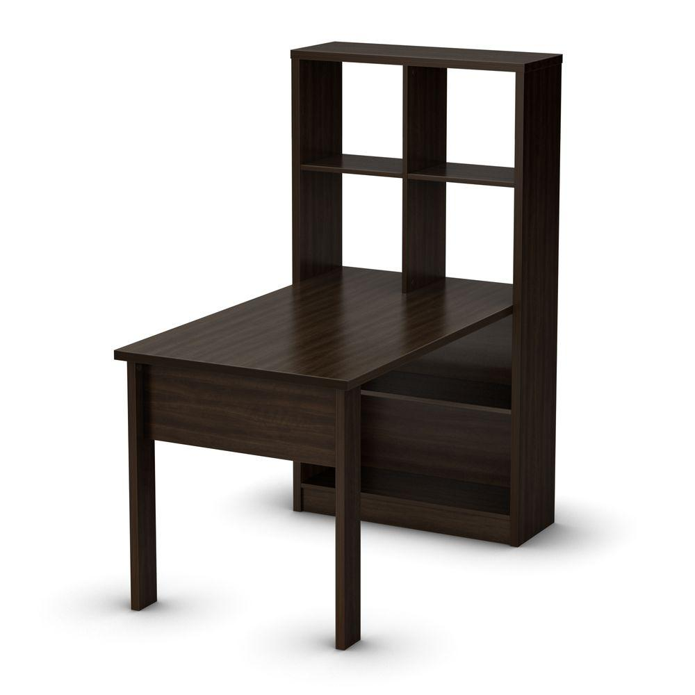 South Shore South Shore Annexe Mocha Work Table and Storage Unit Combo-DISCONTINUED, Brown