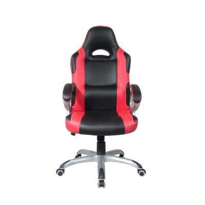 Black and Red Executive High Back Gaming Style Chair