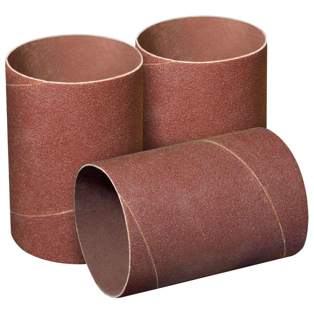 4-1/2 in. x 3 in. 120-Grit Sanding Sleeves (3-Pack)