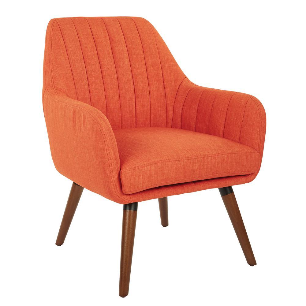 Mattie Series Model MAE-5 Pleasant Tangerine Mid Century Accent Chair