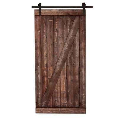 Stained barn doors interior closet doors the home depot canadian hemlock distressed smoke barn door with sliding door planetlyrics