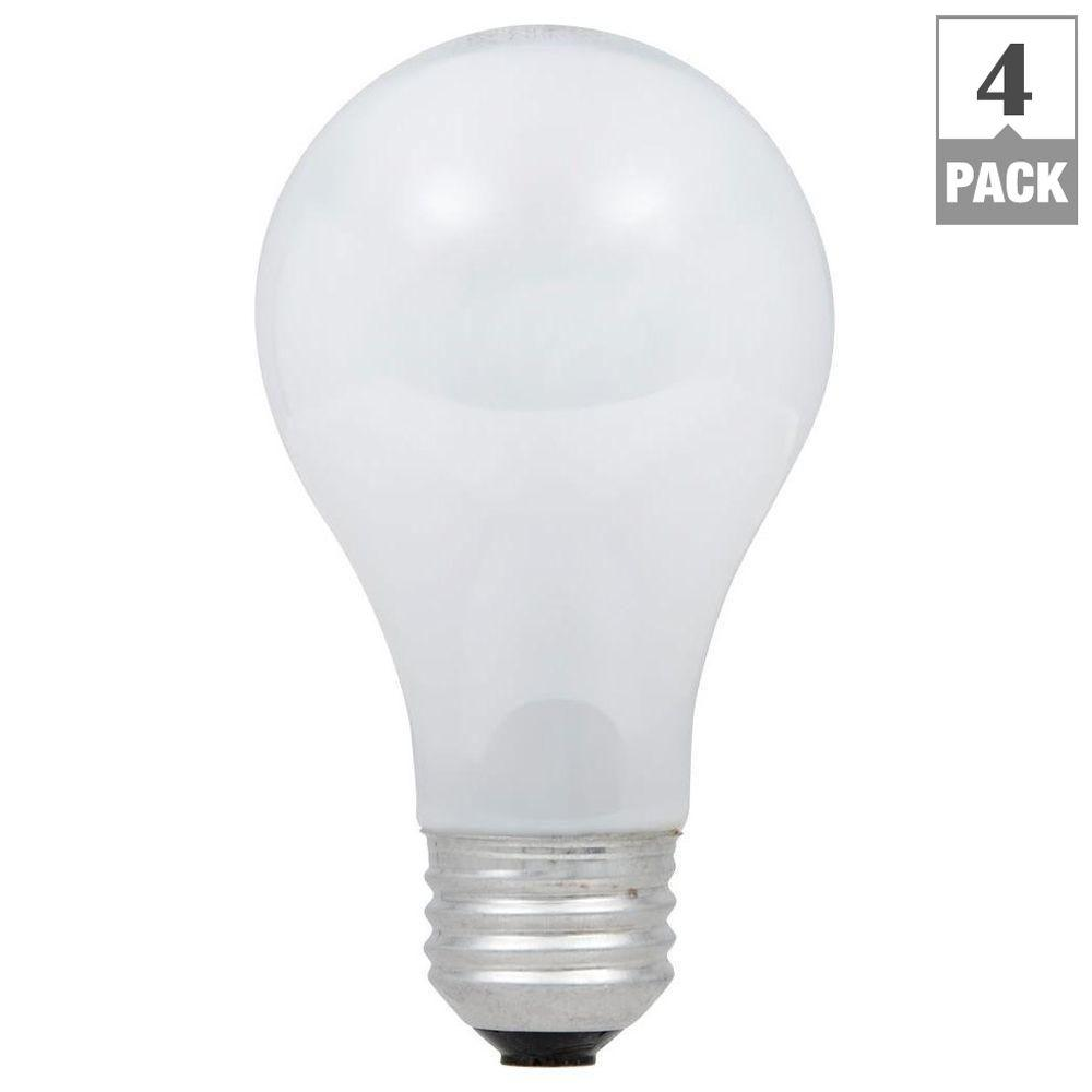 100-Watt Equivalent Eco-Incandescent Soft White A19 Dimmable Light Bulb (4-Pack)