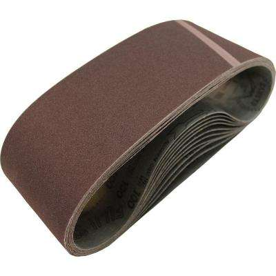 4 in. x 24 in. 40-Grit Abrasive Belt (10-Pack)