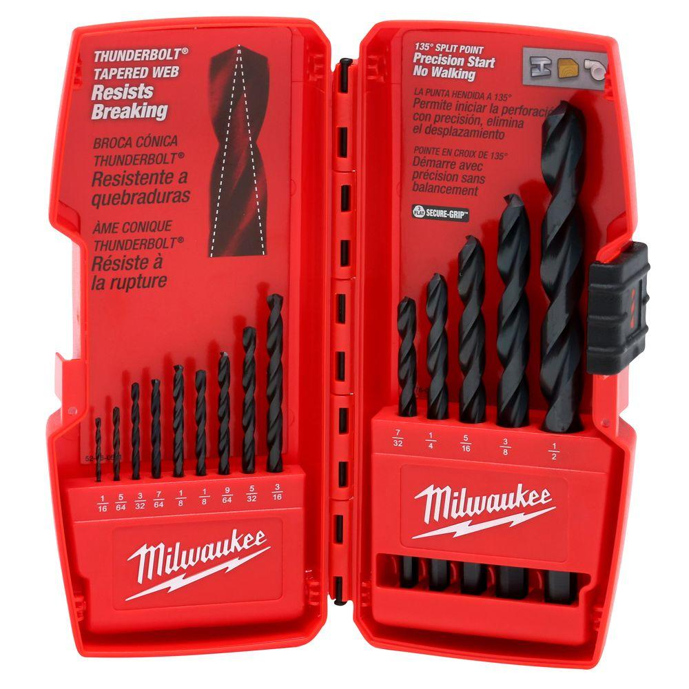 Milwaukee Black Oxide Drill Bit Set 14 Piece 48 89 2800